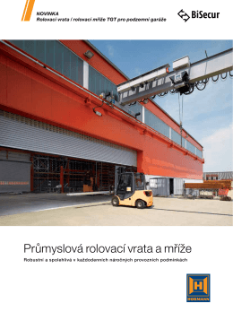 Průmyslová rolovací vrata a mříže
