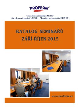 katalog seminářů září-říjen 2015