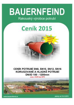 Ceník potrubí 2015