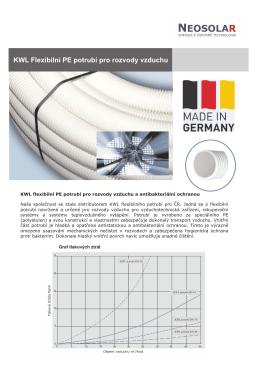 produktový list KWL PE potrubí