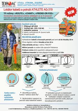 Lokátor kabelů a potrubí ATHLETE AG-319