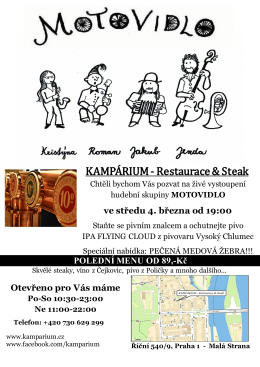 KAMPÁRIUM - Restaurace & Steak