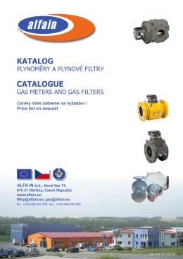 Katalog plynoměrů FMG a plynových filtrů ALFA IN / Catalogue gas