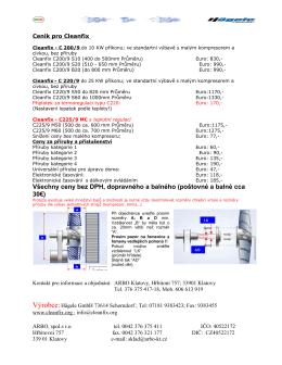 Ceník pro Cleanfix