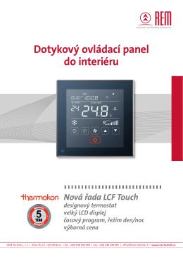 Dotykový ovládací panel do interiéru - REM