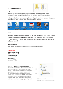 Složky a soubory výklad