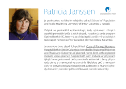 expertka na bezpečnost domácích porodů Patricia Janssen
