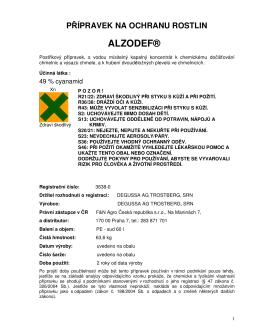 ALZODEF® - MERCATA LES s.r.o.