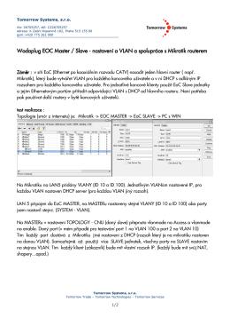 Wodaplug EOC MAsterSlave a nastaveni VLAN pro ruzne rozsahy