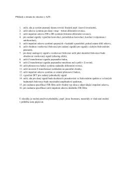 Příklady a témata ke zkoušce z AZS 1. určit, zda je systém popsaný