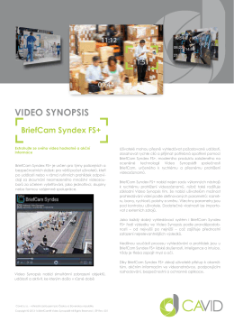 BriefCam Syndex FS+