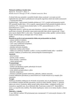 6. Stabilní hrudní stěna - prevence poúrazových komplikací