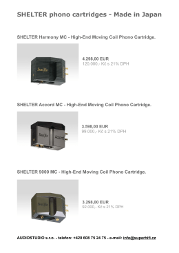 Ceník / Pricelist