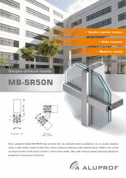 Prospekt sloupko-příčkových fasád MB-SR50N - msv