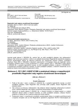 Smlouva č. CZ.1.09/1.3.00/87.01386 o poskytnutí dotace z