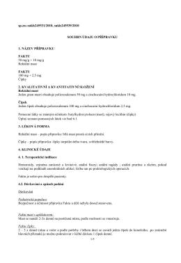 Souhrn údajů o prípravku (Komplexní informace)