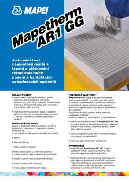 Mapetherm AR1 GG Mapetherm AR1 GG