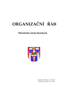 ORGANIZAČNÍ ŘÁD