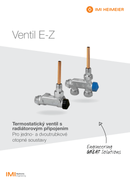 Ventil E-Z - IMI Hydronic Engineering