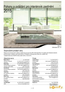 Doporučené prodejní ceny 2015 Interiér EUR