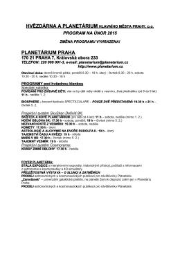 Program únor 2015