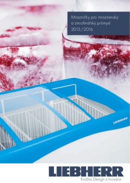 Mrazničky pro mrazírenský a zmrzlinářský průmysl 2015