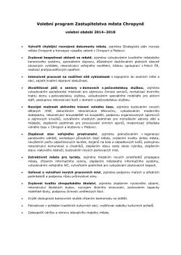 Volební program Zastupitelstva města Chropyně