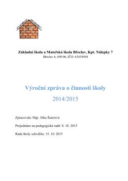 2014/2015 - ZŠ a MŠ Břeclav, Kpt. Nálepky 7