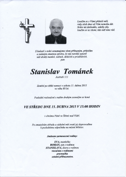 11.4.2015 Stanislav Tománek