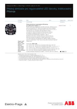 Přístroj stmívače pro regulovatelné LED žárovky