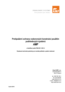 Protipožární ochrana vodorovných konstrukcí použitím