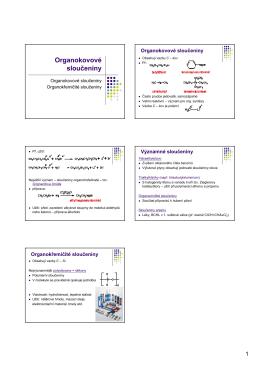12. Organokovové sloučeniny