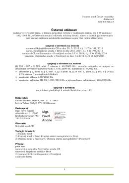 5. ústavní stížnost podaná dne 28. října 2015