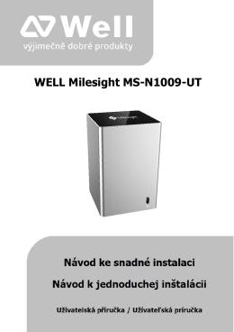 Krátký návod WELL MS-N1009-UT