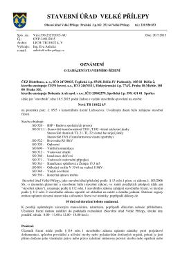 stavba nové transformovny 110/22kV v Lichocevsi