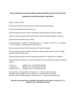 """""""Modernizace místních komunikací v obci Babice"""""""