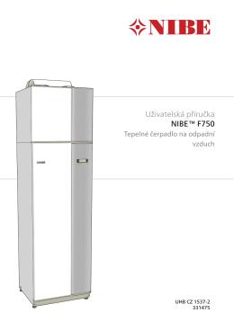 Uživatelská příručka NIBE™ F750