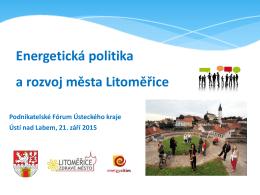 Energetická politika a rozvoj města Litoměřice