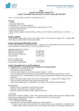 Zápis z porady předsedů statutárních orgánů SVJ dne 29.4.2015