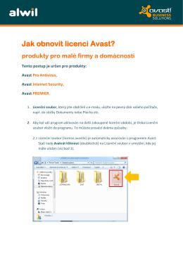 Jak obnovit licenci Avast?