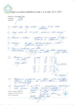 Zápis č. 04/2015