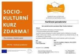 socio- kulturní kurz zdarma! - Centra na podporu integrace cizinců