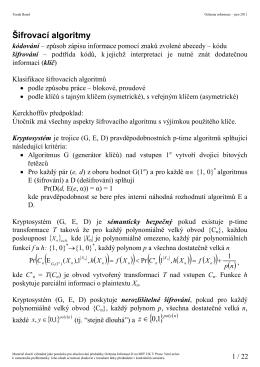 Symetrické šifry