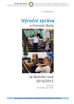 Výroční zpráva - Základní umělecká škola Bílovec
