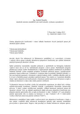 Ing. Jindřich Šnejdrla náměstek ministra zemědělství pro úsek