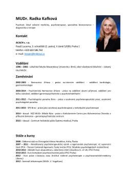MUDr. Radka Kafková