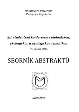 Sborník XII. studentské konference