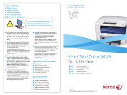 Xerox WorkCentre 6025BI stručný návod k použití
