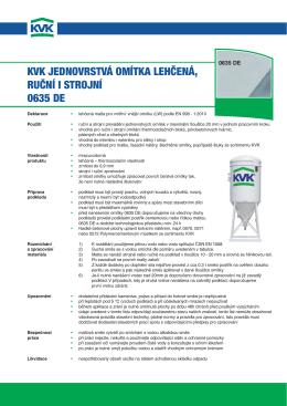 KVK JEDNOVRSTVÁ OMÍTKA LEHČENÁ, RUČNÍ I STROJNÍ 0635 DE
