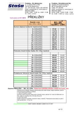 Kompletní ceník překližek v PDF.